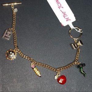 Betsey Johnson back to school teacher charm bracelet